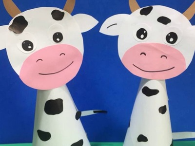 How to make paper cow craft for kids |  Easy paper cow Paper craft ideas step by step