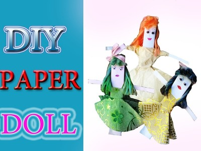 How to Make Paper Doll.DIY Paper Doll. Easy Craft Idea for Kids