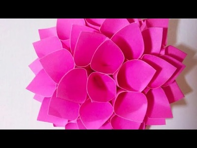 How to make Paper Flower – Origami | Wall Decor | DIY – Paper Craft