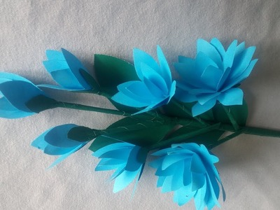 How to make Paper Flowers | DIY Paper Flower Making Tutorials | Paper Crafts