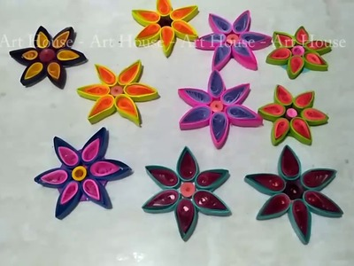 How to make Quilling Flower by Art House | Quilling flower DIY