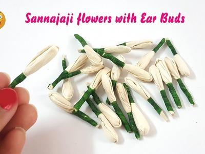 How to make Sannajaji buds at home | DIY | Ear Buds Craft | Kalpana Ambati