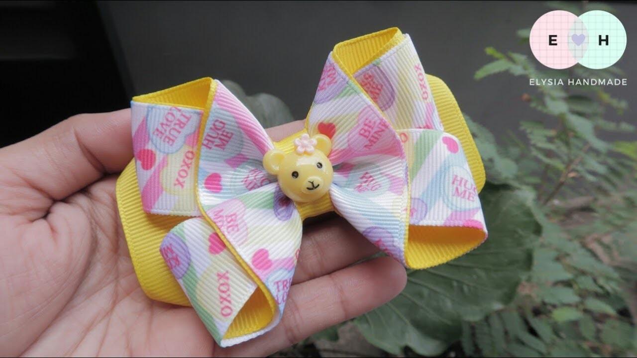 Laço De Fita ???? Ribbon Bow Tutorial #58 ???? DIY by Elysia Handmade