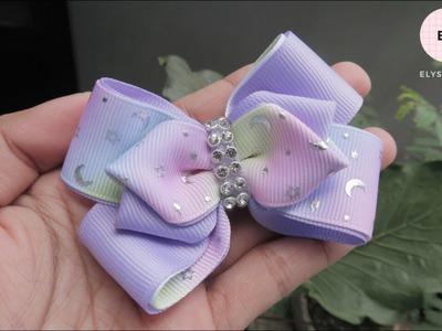 Laço De Fita ???? Ribbon Bow Tutorial #59 ???? DIY by Elysia Handmade