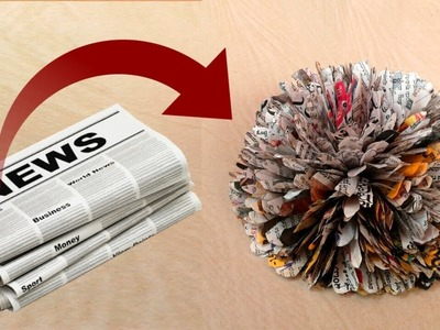 News Paper Flower - Best out of waste || DIY News paper craft idea || SUNIL CREATION