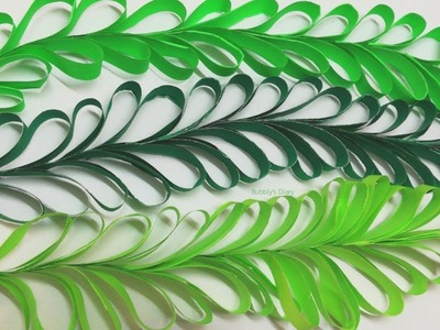 Paper Leaves - Leaves Making With Paper - Easy Paper Crafts - A4 Sheet Craft
