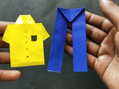 PAPER PANTS MAKE JUST 1 MIN DIY ORIGAMI Easy craft