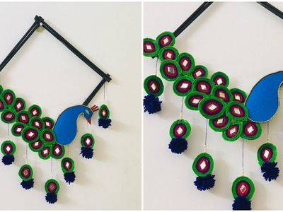 Peacock Wall Hanging DIY | Wall Decor Craft | Home Decoration Idea