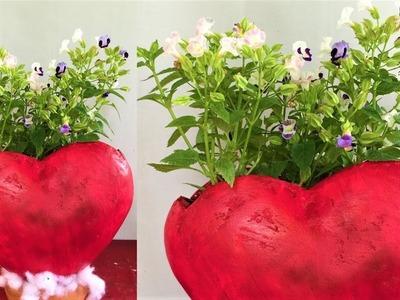 Planter making at home.cement planter ideas.decorative showpiece.cement craft.ORGANIC GARDEN
