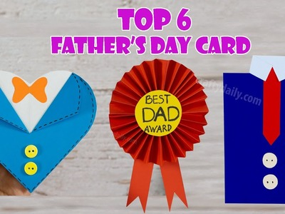 Top 6 Father's Day Card Tutorial | DIY Father's Day Craft Ideas | Craft for Kids