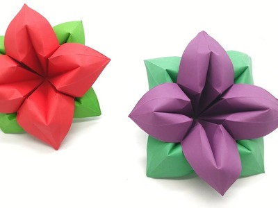4 Petals Flower - DIY Origami Tutorial by Paper Folds - 990