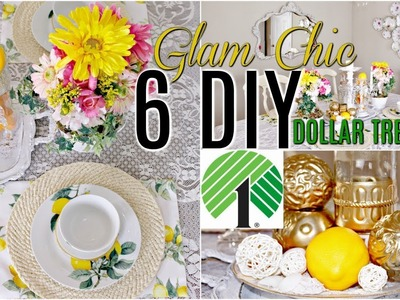 ????6 DIY DOLLAR TREE SUMMER DECOR CRAFTS ???? Glam Chic. Floral. Tablescape. Olivia's Romantic Home