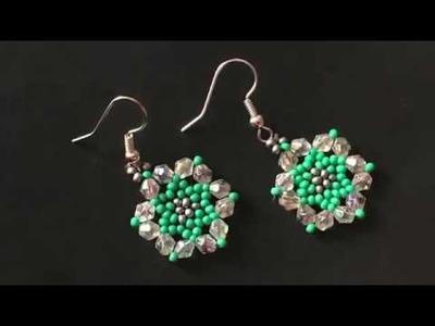 Beach Earring. Summer Earring DIY. How to Make Beaded Earring. See Green Earring