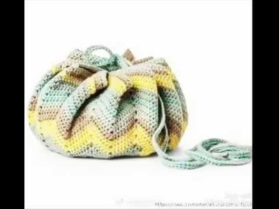 Bolso multifunctional o bolso-alfombra, tejido a crochet