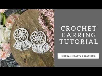 Crochet Earring Tutorial- Crochet Hoop Earrings