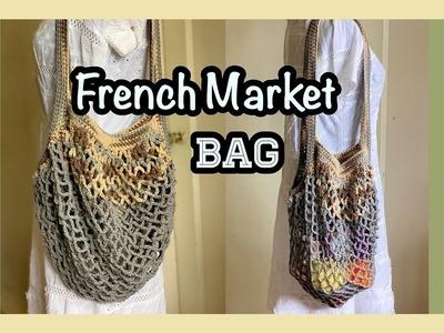 Crochet    French Market Bag    How to crochet