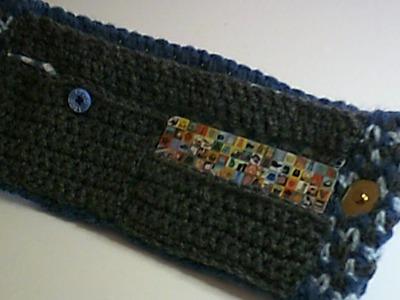 Crochet Wallet (Alternating Spike Stitch)