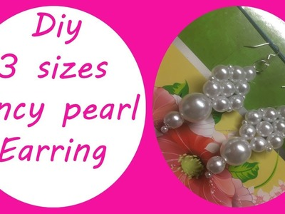 DIY || 3 SIZE PEARL BEADS EARRING || MAKING AT HOME || Creative cj