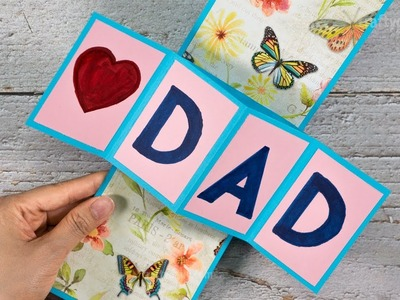 DIY Father's Day Twist and Pop Up Card | Twist and Pop Up Card for Dad | Craft for Kids
