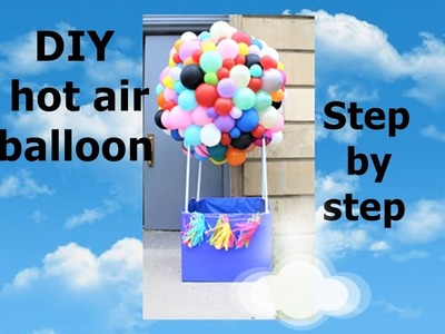 DIY hot air balloon prop tutorial  | dollar tree party decorations | how to