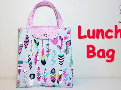 #DIY Lunch Bag | coudre un  sac | bolsa de bricolaje | 가방 | バッグ | Sewing tutorial