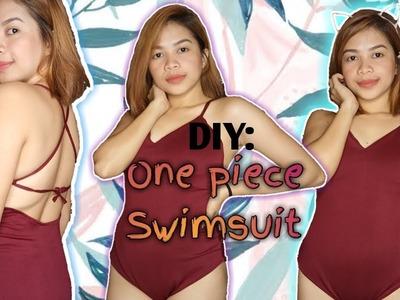 DIY One piece swimsuit | Easy Tutorial