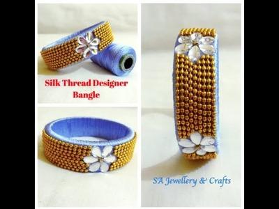 DIY | Silk Thread Bangle Design |Ball Chain Bangle