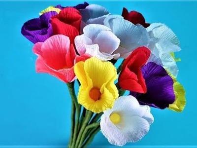 Easy Making Paper Flowers | Paper Flower Decorations | Crafty Paper Flower Room | DIY Paper Flowers