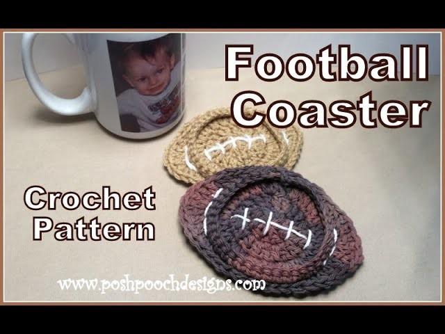 Football Coaster Crochet Pattern (2)