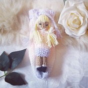 Hand knitted little comfort doll worry doll