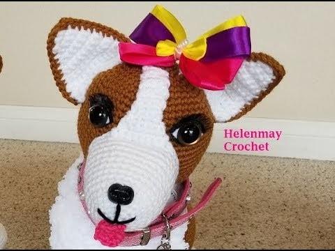 Helenmay Crochet Amigurumi Corgi Dog Part 1 of 4 DIY Video Tutorial