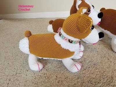 Helenmay Crochet Amigurumi Corgi Dog Part 2 of 4 DIY Video Tutorial