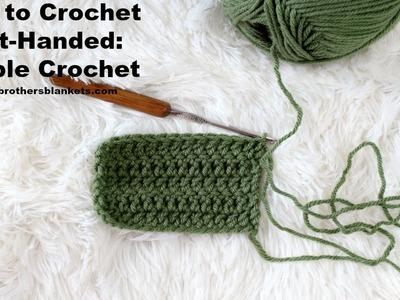 How to Crochet Left-Handed: Double Crochet