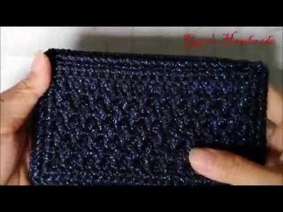 How to crochet mini clutch from Alpine stitch part 2.2 - Móc ví cầm tay mini phần 2.2