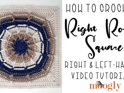 How to Crochet: Right Round Square (Right Handed)