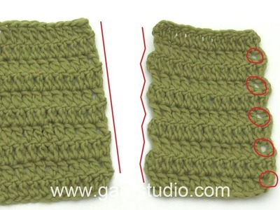 How to get straight edges when crocheting