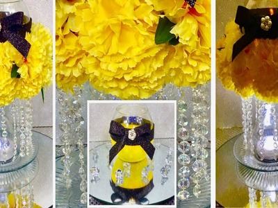 How To Make A Glamorous Yellow Carnations Centerpiece. DIY