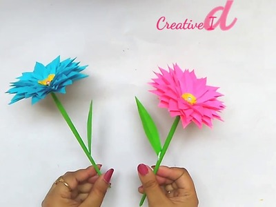 How to make Daisy Paper Flower. Easy Paper Flower Tutirials.DIY Beautiful Paper Flower Daisy