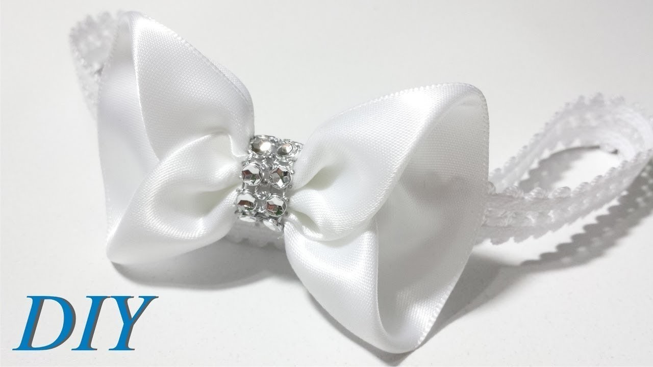 How To Make Hair Bows ???? DIY #244 Satin Ribbon Bow Tie Tutorial
