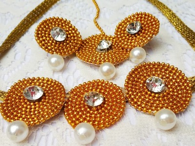 HOW TO MAKE NECKLACE USING BALL CHAIN,  RIBBON, LACE, FABRICS GLUE | BEAUTIFUL NECKLACE FOR ENGAGEME