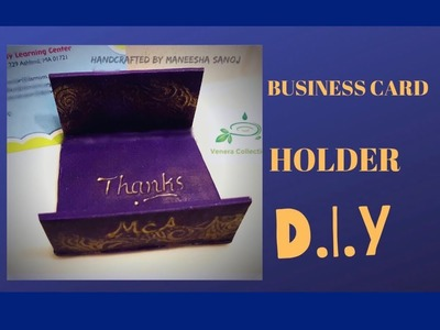 PERSONALIZED BUSINESS CARD HOLDER TUTORIAL DIY #52