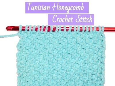Tunisian Honeycomb Crochet Stitch - crochet jewel