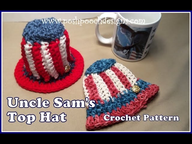 Uncle Sam's Top Hat Crochet Pattern