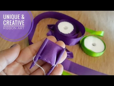 Unique & Creative Ribbon Art|Cool ideas with Ribbon|Ribbon Crafts DIY|Quicky Crafts