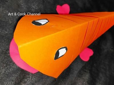 3D Paper Fish -DIY Origami #Fish Craft Easy|#Origami Fish| Paper Fish| #Paper Crafts for Kids