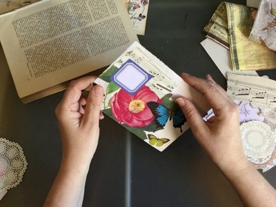 Craft with me | collaging a couple of envelopes