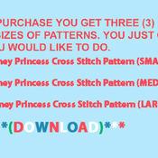 Disney Princess Cross Stitch Pattern***LOOK***X***INSTANT DOWNLOAD***
