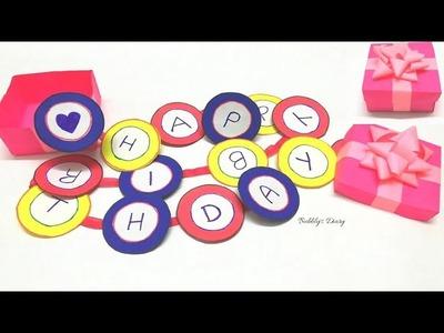 DIY Birthday Gift Ideas - birthday gift box - Gift box tutorial - Paper Craft