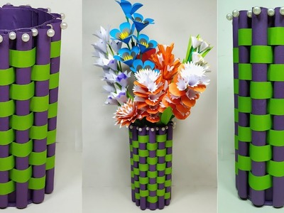 DIY Easy Paper Flower Vase - Beautiful Paper Craft - Flower Vase - Abigail Paper Crafts