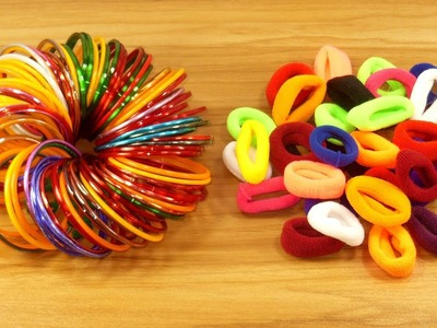 DIY Hair rubber bands & Old bangles craft idea | DIY art and craft | DIY HOME DECO